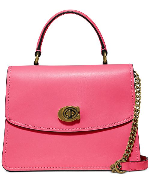 COACH Leather Parker Top Handle Crossbody
