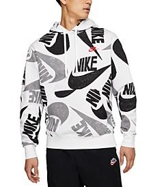 Men's Sportswear Logo-Print Fleece Hoodie