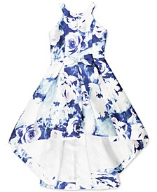 Big Girls Floral Mikado High-Low Dress