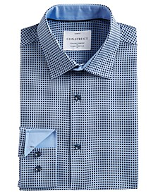 Men's Slim-Fit Box-Check Dress Shirt