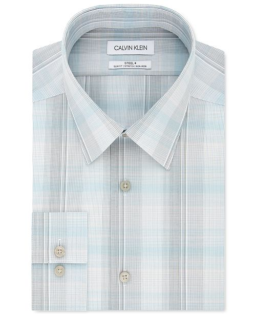 Calvin Klein Calvin Klein Men's Slim-Fit Multi-Plaid Dress Shirt