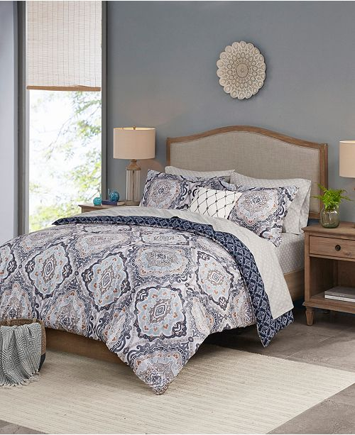 Madison Park Essentials Titus Reversible 8-Piece Cal King Bedding Set