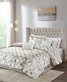 Rousseau Velvet Metallic 7-Piece Cal King Comforter Set