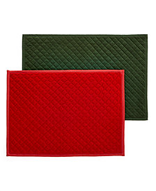 Bardwil Holiday Chatham Quilted Velvet Placemat