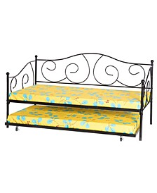 Metal Daybed with Trundle, Twin Size