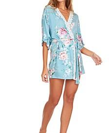 Womens Antonia Printed Knit Robe