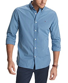 Men's Charles Custom-Fit Stretch Gingham Check Shirt