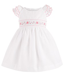Baby Girls Embroidered Ruffle-Sleeve Dress