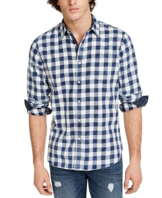 Men's Washed Banarama Check Shirt, Created for Macy's