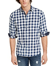 Men's Washed Banarama Check Shirt, Created for Macy's