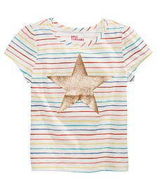 Toddler Girls Rainbow-Stripe Star T-Shirt, Created for Macy's