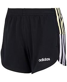 Little Girls Clashing Stripes Mesh Shorts