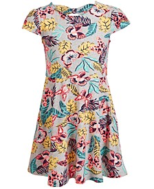 Toddler Girls Bow-Back Butterfly-Print Fit & Flare Dress, Created for Macy's