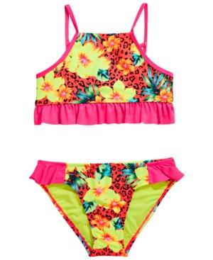 Breaking Waves Big Girls 2-Pc. Sassy Tropics Bikini