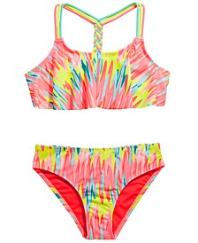 Big Girls 2-Pc. Washed Out Flounce Bikini
