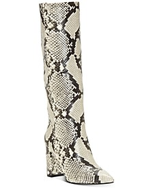 INC Women's Paiton Block-Heel Boots, Created for Macy's