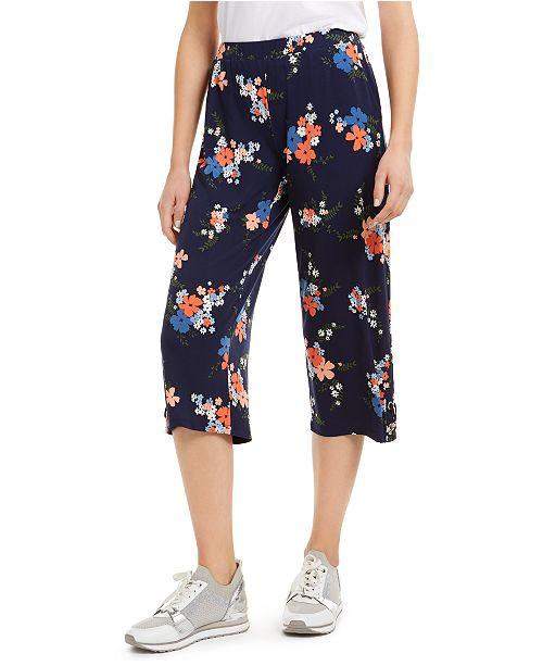 Michael Kors Petite Cropped Lace-Up Pants