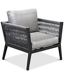 Braxtyn Outdoor Club Chair with Sunbrella® Cushions, Created for Macy's
