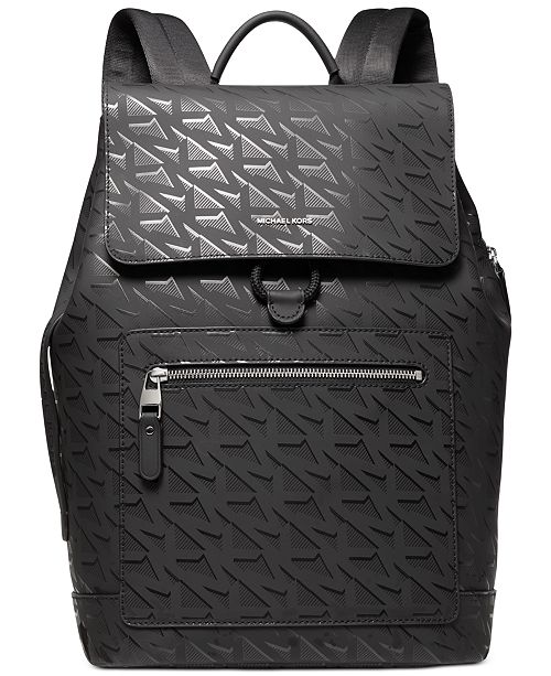 Michael Kors Men's Hudson Signature Flap Backpack