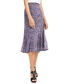 Dainty Blooms Seamed Skirt