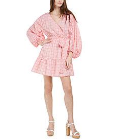 Michael Michael Kors Printed Volume-Sleeve Wrap Dress