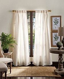 "Martha Stewart Faux Silk 30"" x 84"" Pinch Pleat Curtain Set"