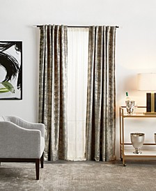"Martha Stewart Monroe Metallic Velvet 50"" x 95"" Curtain Set"