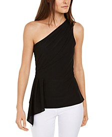 INC Draped One-Shoulder Top, Created For Macy's