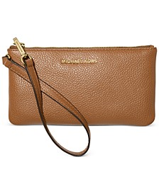 Jet Set Leather Wristlet