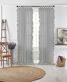 """Bella 52"""" x 95"""" Sheer Ruffle Curtain Panel"""