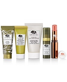 Receive a Free Choice 5pc Skincare Giveaway with any $55 Origins Purchase (Up to a $109 Value!)