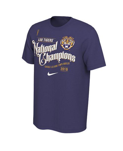 Nike Men's LSU Tigers National Champ Celebration T-Shirt