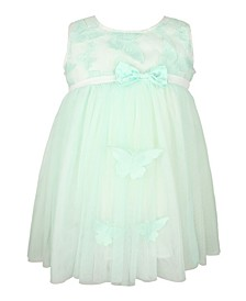 Baby Girl Butterfly Sleeveless Tulle Dress