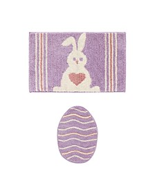 Hippity Hop 2-Pc Bath Rug Set
