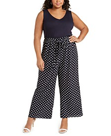 Trendy Plus Size Printed Jumpsuit