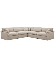 "Joud 5-Pc. Fabric ""L"" Shaped Modular Sofa, Created for Macy's"
