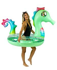 "Glitter Seahorse 48"" Jumbo Swimming Pool Tube"