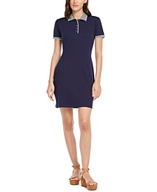 Striped-Trim Polo-Shirtdress, Created for Macy's