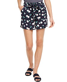 Floral-Print Tie-Belt Shorts, Created for Macy's