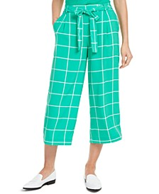 Windowpane Check Crop Capri Pants, Created for Macy's