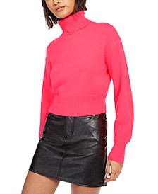Cropped Turtleneck Sweater, Created For Macy's