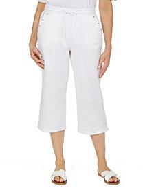 Karen Scott Drawstring-Waist Capri Pants, Created for Macy's