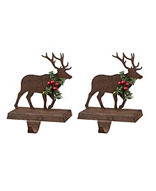 Reindeer Stocking Holder 2 Piece