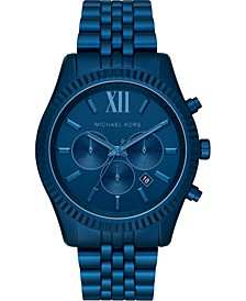 Men's Chronograph Lexington Navy Aluminum Bracelet Watch 44mm