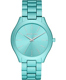 Women's Slim Runway Aqua Aluminum Bracelet Watch 42mm