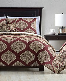 CLOSEOUT! Brandel Reversible 12-Piece Full Comforter Set