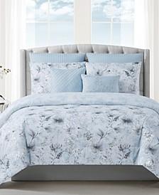 Ava 7-Piece Floral Print Queen Comforter Set