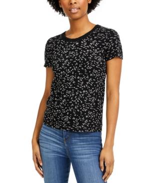 Hippie Rose Juniors' Lace-Trim Waffle T-Shirt