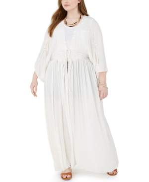Band of Gypsies Trendy Plus Size Maxi Duster Jacket