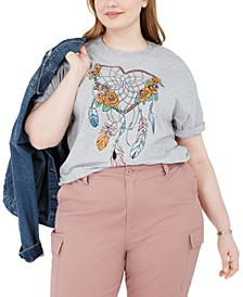 Trendy Plus Size Heart Dreamcatcher T-Shirt